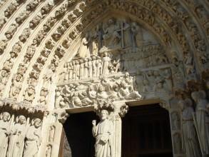 Cathédrale Notre-Dame-Paris porche du jugement dernier- visite guidée de paris