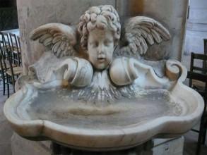 Saint-Germain-l'Auxerrois-bénitier- visite guidée paris