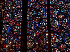 baie vitrée de la Sainte-Chapelle- visite guidée paris