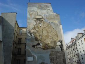 Belleville-Ménilmontant - mur peint - Visite guidée Paris