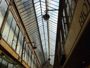 Passage couvert verrière Jouffroy visite guidée paris