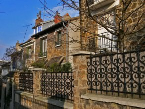 villa en pierres meulières du quartier de la Mouzaïa- visite guidée paris