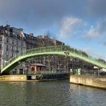 passerelle canal Saint-Martin- visite guidée paris