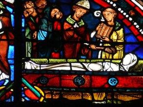 détail d'un vitrail de la Sainte-Chapelle- Visite guidée Paris
